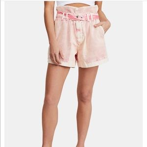 Free People Paper-Waist Shorts
